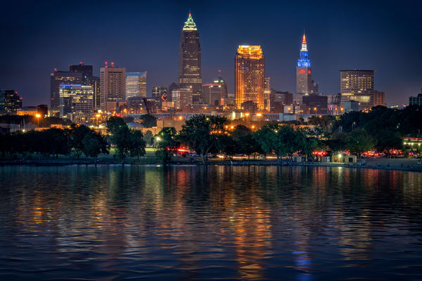 Cleveland at Night | Shop Photography by Rick Berk