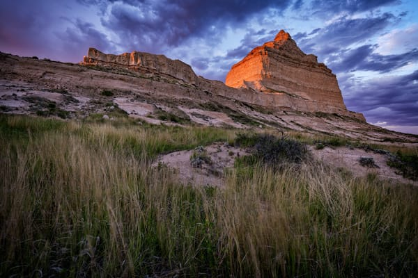 Scotts Bluff at Sunset | Shop Photography by Rick Berk