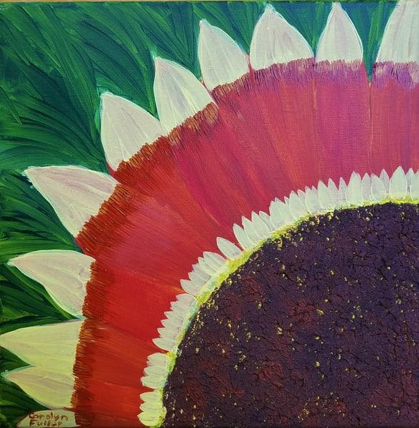 Carolyn Fuller - original artwork - flowers - sunflower - Earthwalker Sunflower