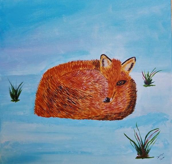 Carolyn Fuller - original artwork - animals - fox - nature - Fox in the Snow
