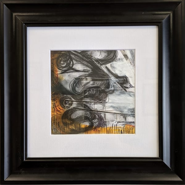 Laurie Eurich - original artwork - abstract - nature - fish - Against the Grain II
