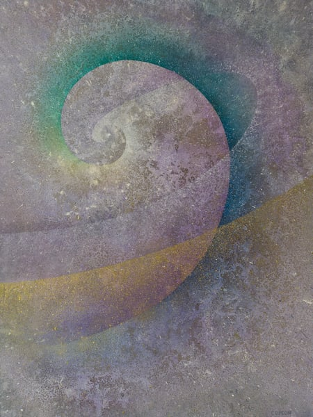 Triple Spiral - Giclee reproduction of artwork by David Copson