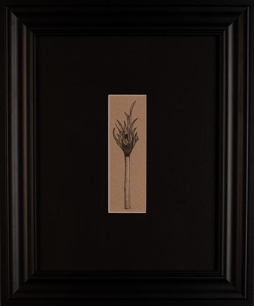 Laurie Eurich - original artwork - abstract - matchstick - Feather Match