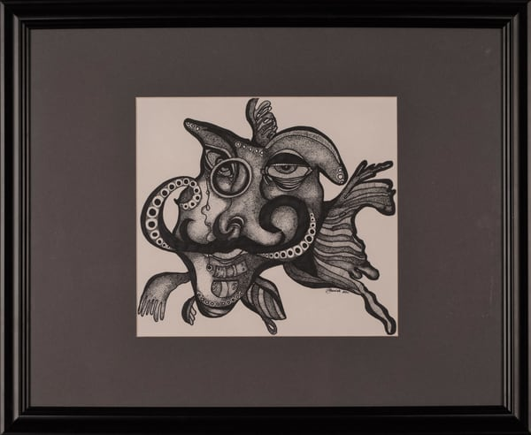 Laurie Eurich - original artwork - abstract - animals - fish - Monsieur Poisson