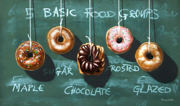 Five Food Groups | donuts | tongue-in-cheek kitchen art | Richard Hall