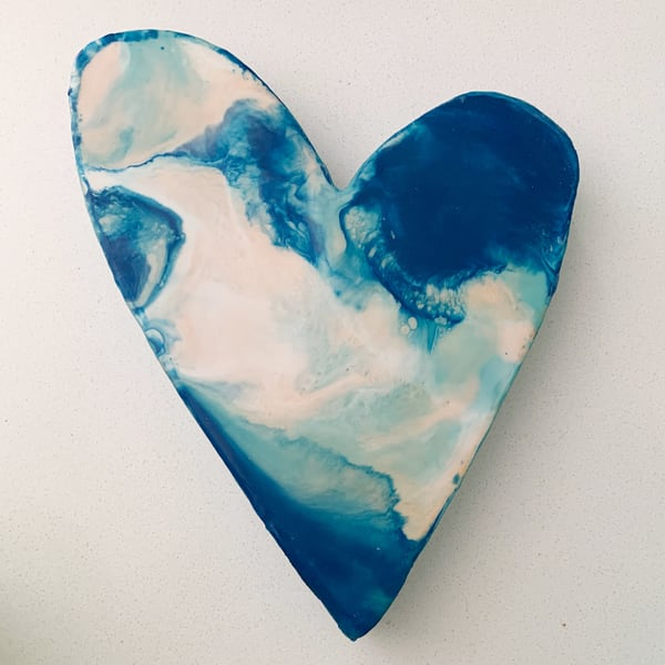Medium Blue Heart #2 | Jannet Haitas