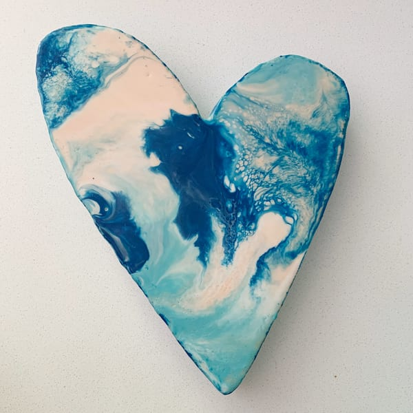 Medium Blue Heart #4 | Jannet Haitas