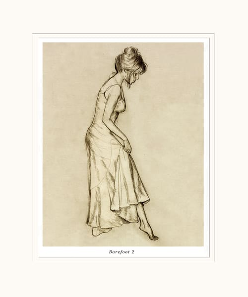 Sepia Classical Female Art Print