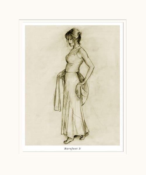 Sepia Toned Female Art Print