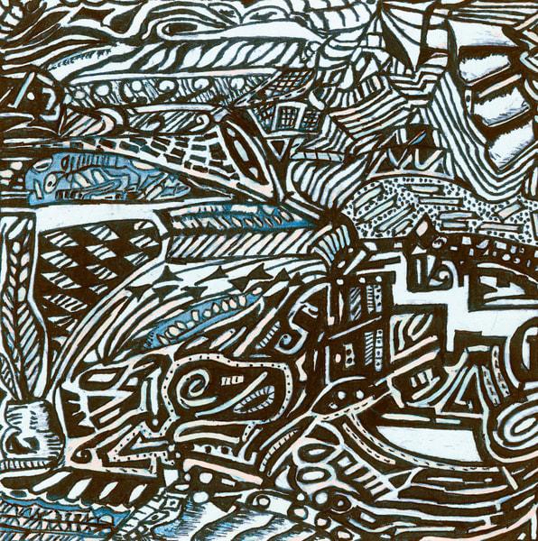 Blues Scale Series  #35 Art | Aldo Borromei