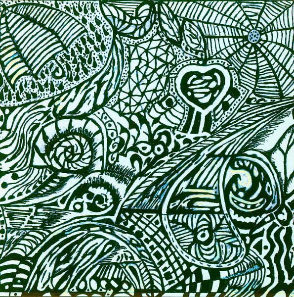 Blues Scale Series  #39 Art | Aldo Borromei
