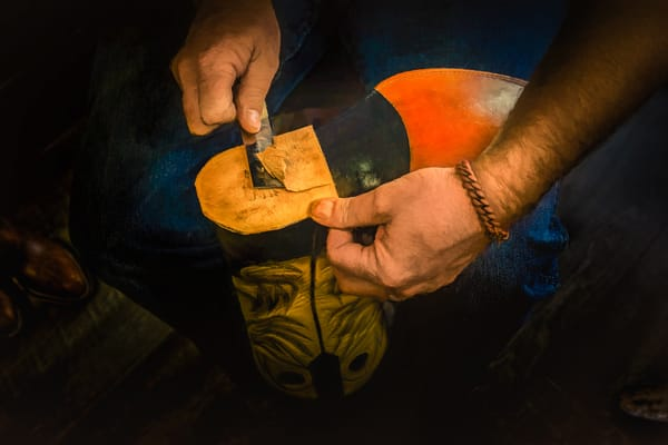 Hand Shaving The Stacked The Heel Photography Art | Grace Fine Art Photography by Beth Sheridan