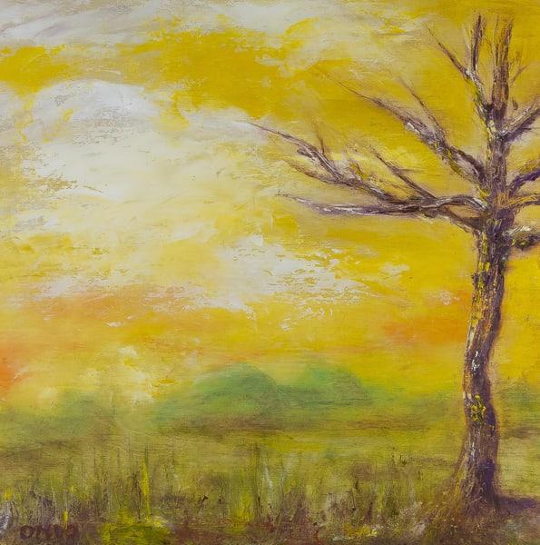 Deb Ondo Wild Art purple trees original oil painting.