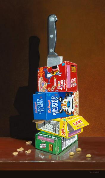 Cereal Killer | humorous kitchen decor | knife & cereal | Richard Hall