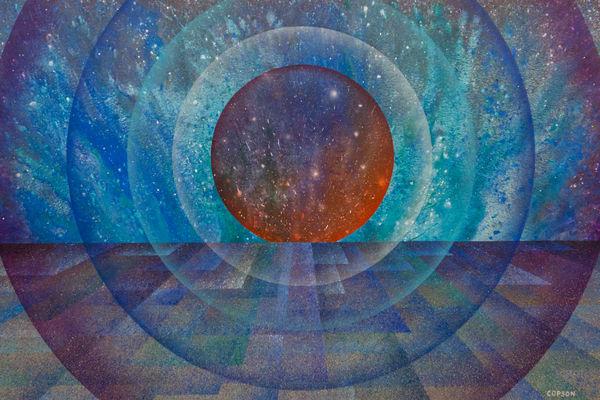 Quantum Landscape #6- Giclee reproduction of art by David Copson