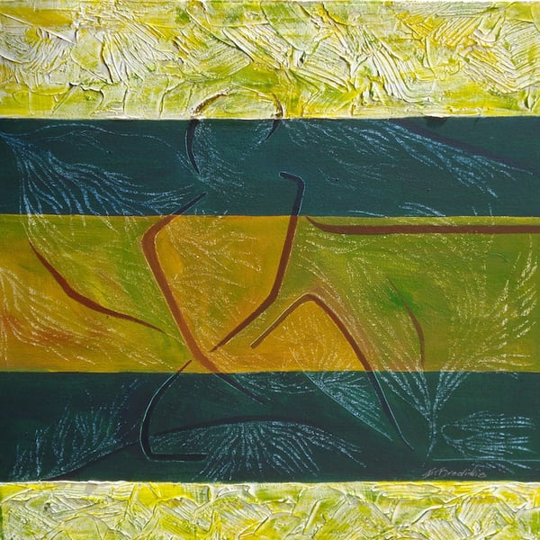 Green And Yellow I, From an Original Acrylic Painting