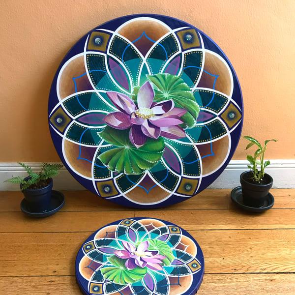 Lotus Drops - Original Painting for Sale - The Art of Ishka Lha
