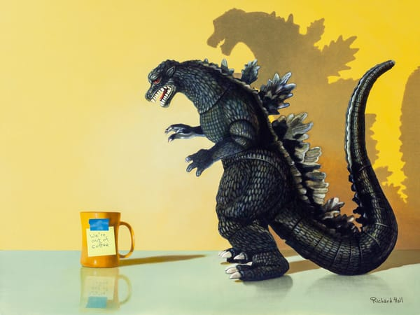 Coffee Monster Art | Richard Hall Fine Art