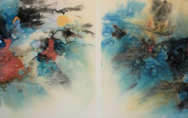 Creations Dawn, Morning Stars Still Sing Together (Framed) Art   Karen Kurka Jensen