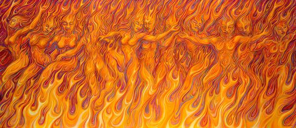Flames Of Passion Tapestry | markhensonart