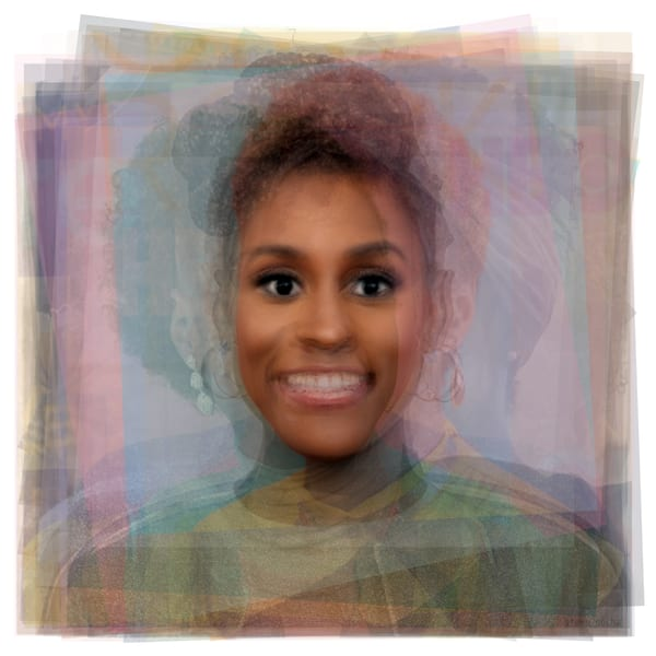 Overlay art – contemporary fine art prints Issa Rae from Tv's Insecure