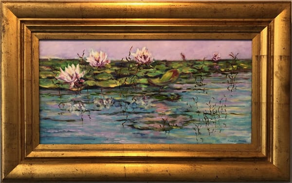 Water Lilys, Original Oil Painting
