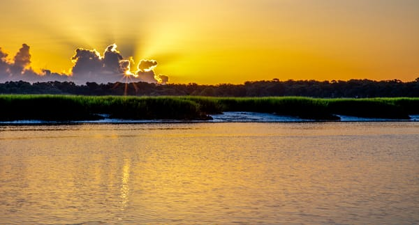 Sunrise At Low Tide Photography Art | Willard R Smith Photography