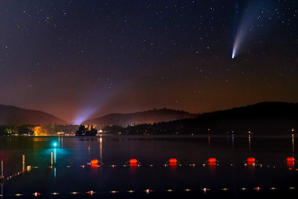 Neowise Comet From Inlet, Ny Photography Art | Kurt Gardner Photogarphy