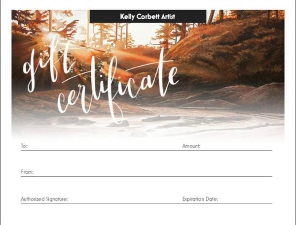 $1000 Gift Card | Kelly Corbett Artist