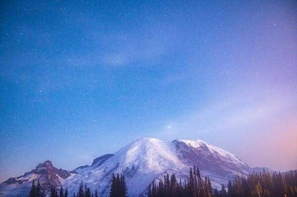 Rainier Fog And Stars Photography Art | Call of the Mountains Photography