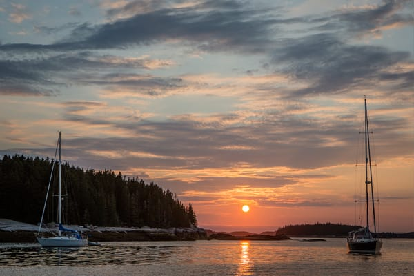 McGlathery Island, ME - 11 August 2014. Sunset
