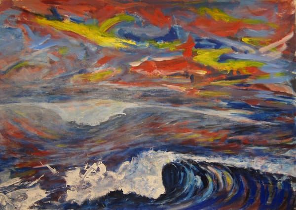 """Crashing Waves"" Original Art | Daniel Kanow Fine Art"