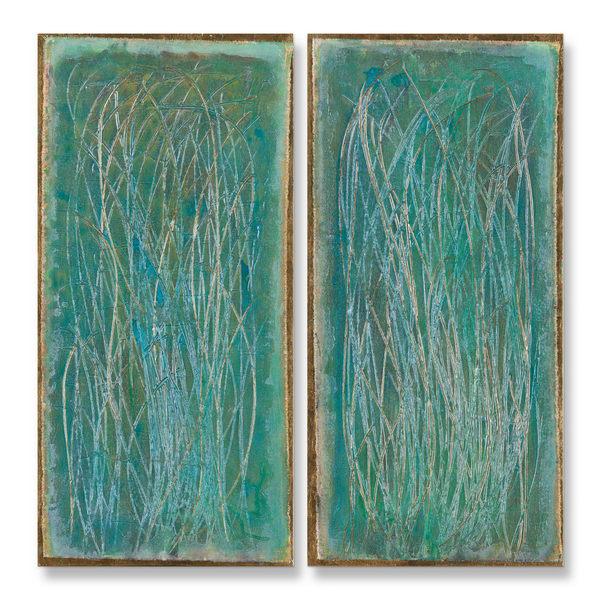 #9 Wind Swept    Diptych  17.5x36 Each Art | Sondra Wampler | fine art
