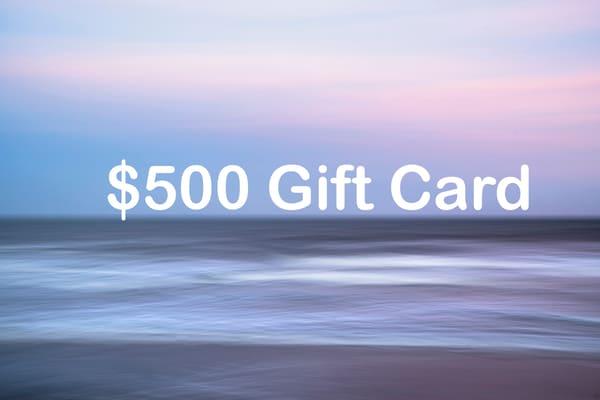 500 dollar gift card