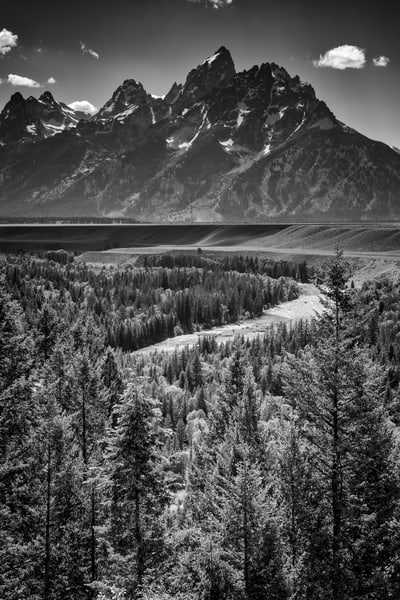 Grand Teton in Black & White | Shop Photography by Rick Berk