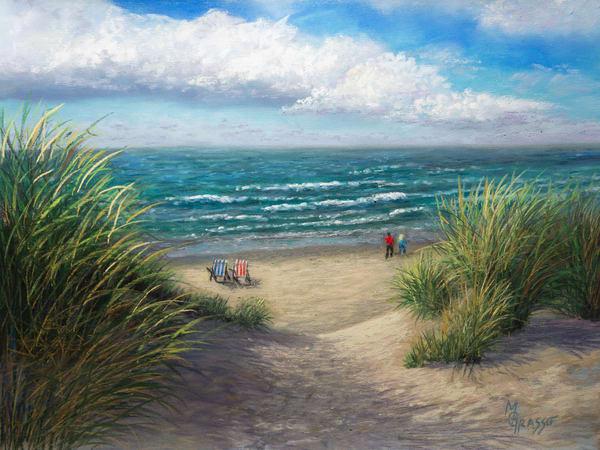 Down To The Beach   Original Art | Mark Grasso Fine Art