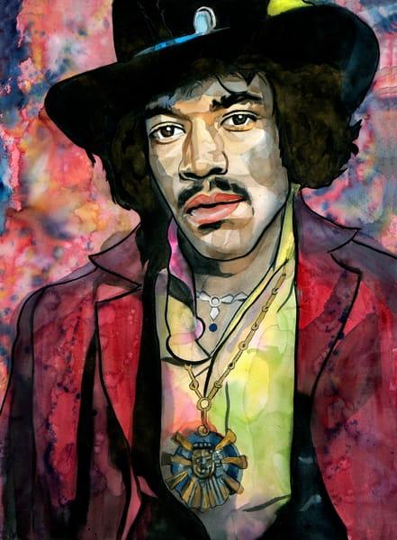 Jimi Hendrix   Lf Art | William K. Stidham - heART Art