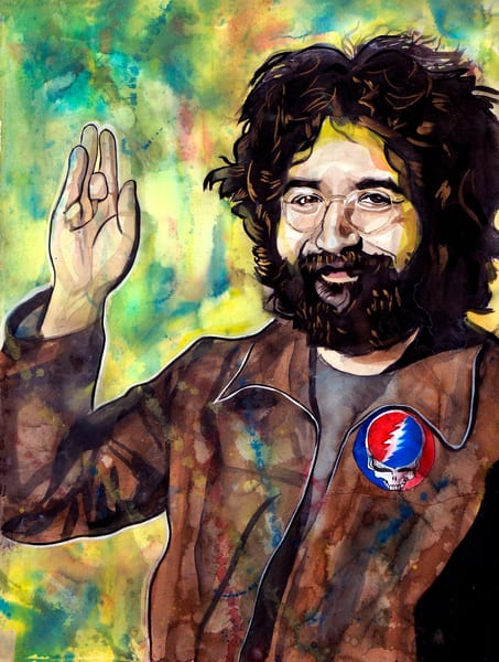 Jerry Garcia Lf Art | William K. Stidham - heART Art