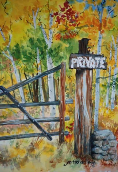 A Little Bit Of Privacy Art | Jan Thoreen Lewis Fine Art