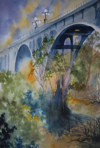 Old Pasadena Bridge Art | Jan Thoreen Lewis Fine Art
