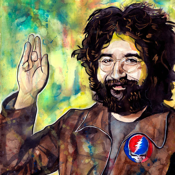 Jerry Garcia Life Force Coaster Art | William K. Stidham - heART Art