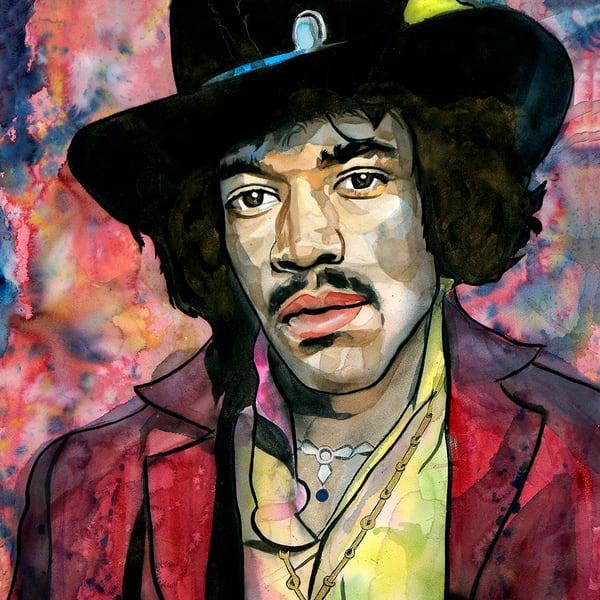 Jimi Hendrix Life Froce Coaster Art | William K. Stidham - heART Art