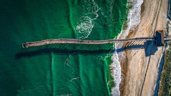 Aerial Photo Avon Pier | Outerbanks Art Gallery