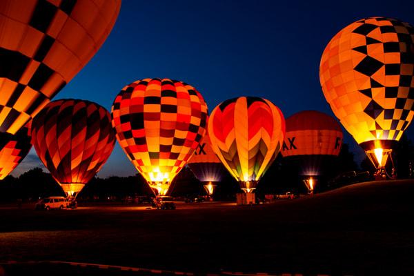 Hot Air Balloons Glow
