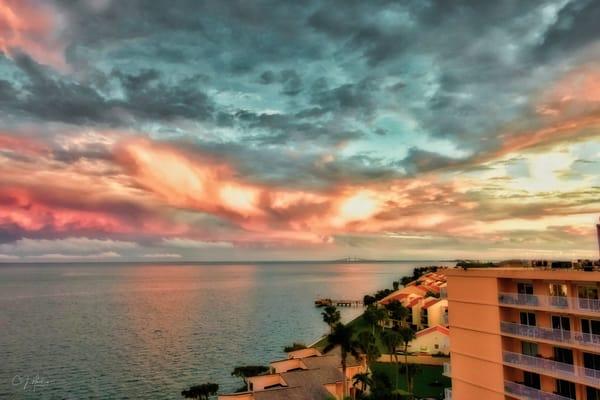 Southbay Sunset Signed Photography Art | CJ Harding
