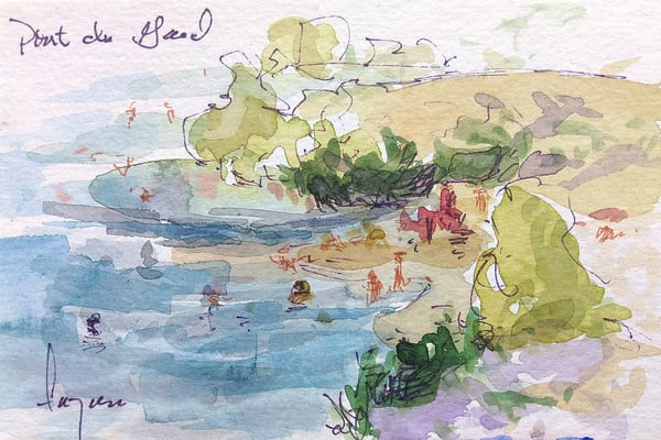 Swimmers Art | Dorothy Fagan Joy's Garden