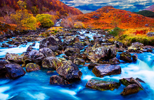 A0066 - Glencoe Mountains - Scotland Art, Christopher Gatelock