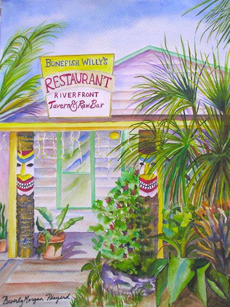 Bonefish Willy's, From an Original Watercolor Painting