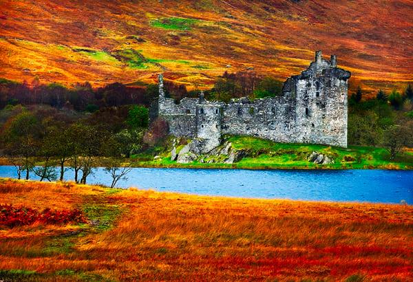 Kilchurn Castle - Art of Scotland Print By Christopher Gatelock