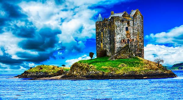 Stalker Castle- Art of Scotland Print By Christopher Gatelock